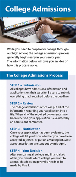 College Admissions Rack Card Handout