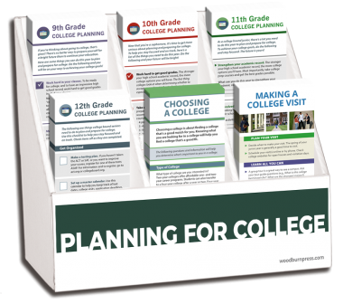 Planning for College Rack Card Display Package