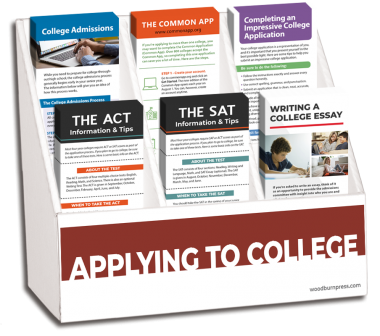 Applying to College Rack Card Display Package