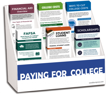 Paying for College Rack Card Display Package
