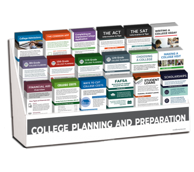 College Planning and Preparation Rack Card Display Package