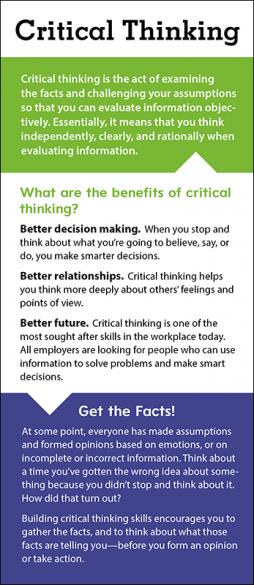 Critical Thinking Rack Card Handout