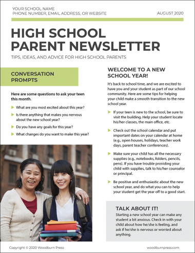 High School Parent Newsletter
