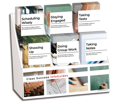 College Class Success Pamphlet Display Package