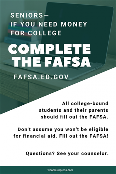 Complete the FAFSA Poster