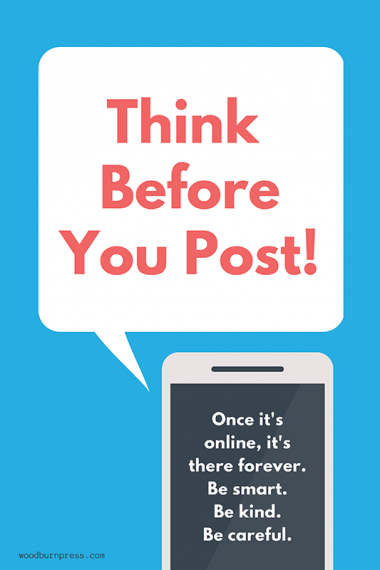 Think Before You Post Poster