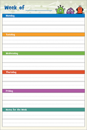 Primary Planner Wall Chart